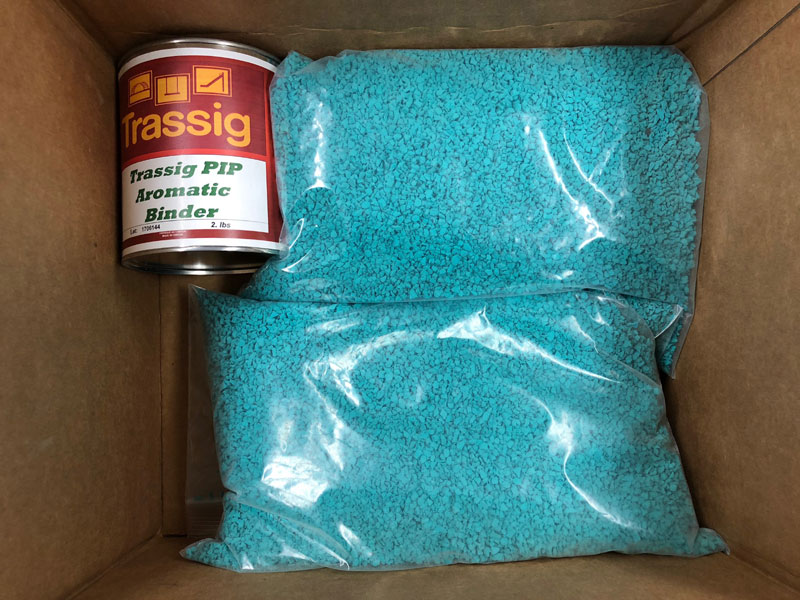 teal poured in place rubber repair patch kit